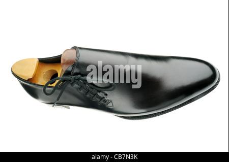 John Lobb Black lace up shoe - Stock Photo