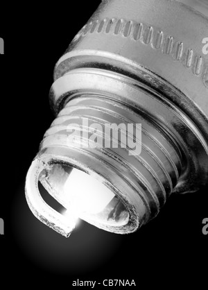 spark plug for engine ignition systems, firing - Stock Photo