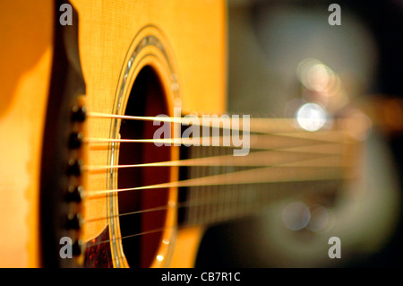 Musical instruments, guitar at an on stage performance - Stock Photo