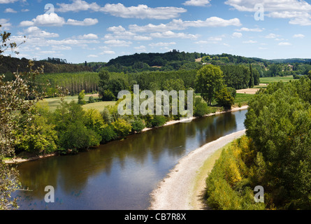 Dordogne River, France in summer - Stock Photo