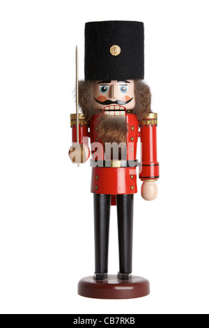 Traditional nutcracker on white background - Stock Photo