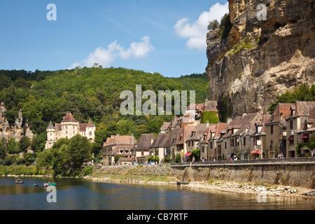 La Roque Gageac on the Dordogne River, Perigord, France, Europe - Stock Photo