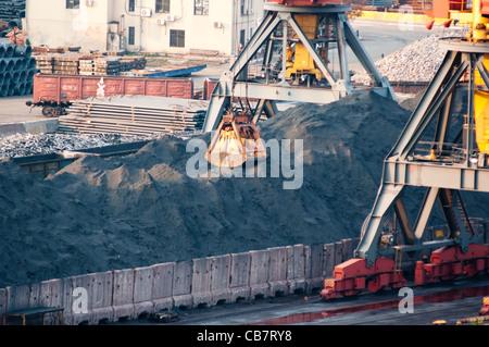 Heavy industry at Odessa's port. Ukraine - Stock Photo