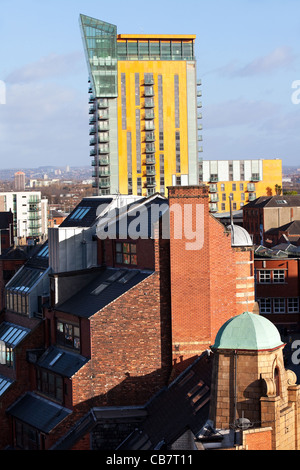 The Roofline or Skyline of Manchester   Crane Wharf  Place or Skyline Central, Northern Quarter, Manchester, UK - Stock Photo