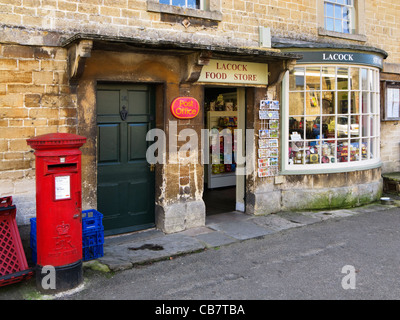 Village shop in Lacock, Wiltshire, UK - Stock Photo