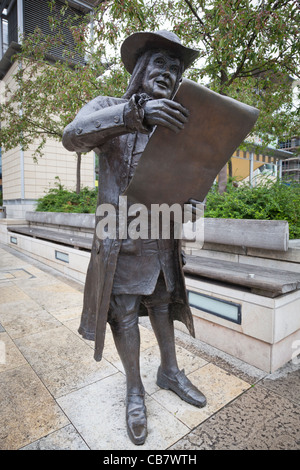 Statue of William Penn, founder of the state of Pennsylvania, in Bristol, England. Stock Photo
