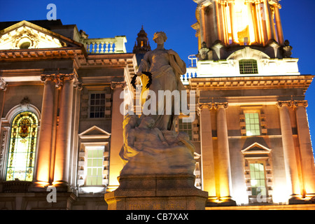 titanic memorial outside belfast city hall northern ireland uk - Stock Photo
