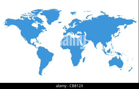 World Map with Clipping Path - Stock Photo