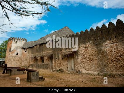The Siyu Fort on Pate Island, Lamu Kenya - Stock Photo