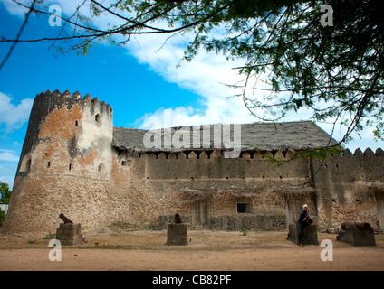 The Siyu Fort On Pate Island, Lamu, Kenya - Stock Photo