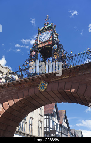 The Victorian Eastgate Clock in Chester, England - Stock Photo