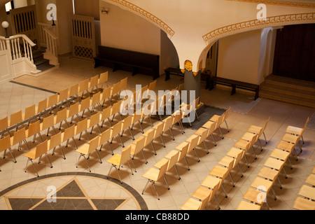 interior of synagogue - Stock Photo