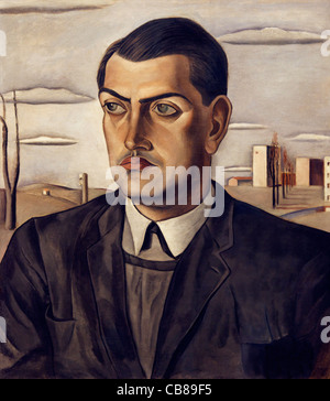 Portrait of Luis Bunuel, Salvador Dali, 1924, Museo Nacional Centro de Arte Reina Sofía Museum of Modern Art Madrid - Stock Photo