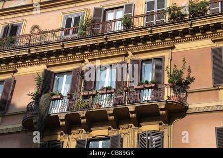 ... City Apartments In Rome   Stock Photo