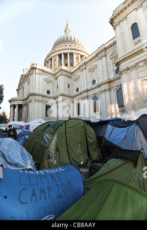 Occupy London is an ongoing peaceful protest and demonstration against economic inequality