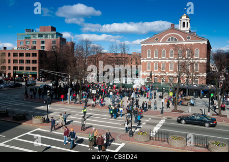 Faneuil Hall in Boston - Stock Photo