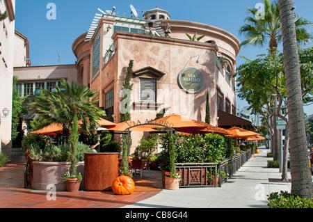 Via Alloro Il Fornacio Italian Bar Restaurant Rodeo Drive Beverly Hills Los Angeles California United States - Stock Photo