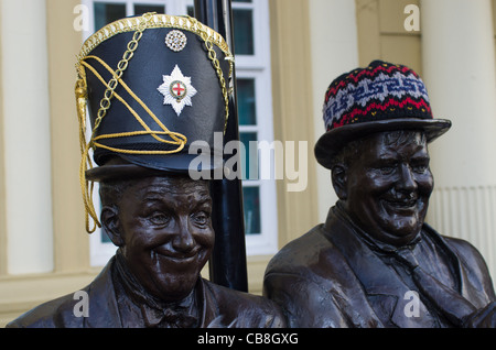 Laurel and Hardy statue - Stock Photo