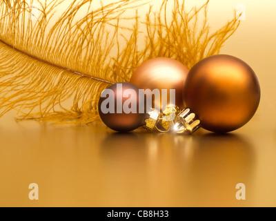 Golden Christmas Decoration - Stock Photo
