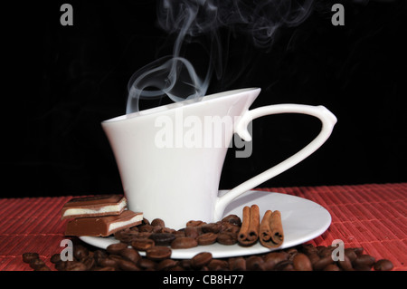 Cup of hot coffee. - Stock Photo