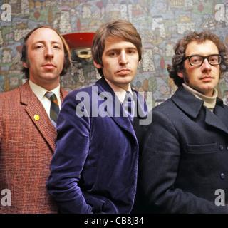 SCAFFOLD UK pop trio in December 1967 from left: Roger McGough, Mike Mcgear, John Gorman. Photo Tony Gale - Stock Photo