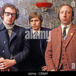 SCAFFOLD UK pop trio in December 1967 from left: John Gorman, Mike McGear and Roger McGough. Photo Tony Gale - Stock Photo