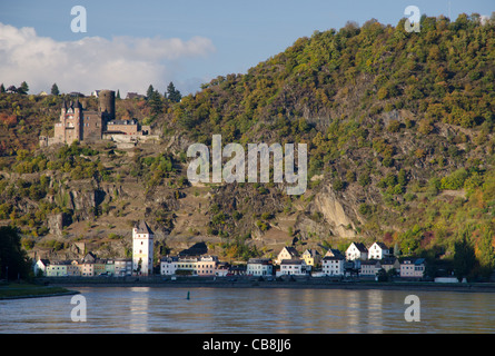 St Goarshausen, Rhine valley in autumn - Stock Photo
