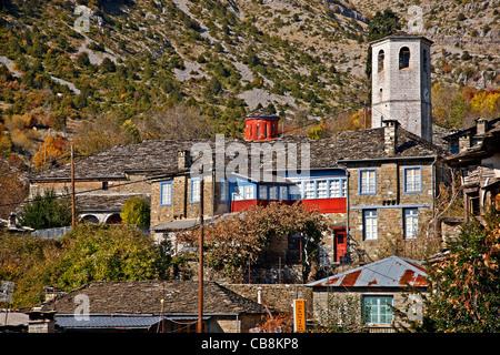 'Detail' from Tsepolovo  village, one of the most beautiful Greek mountainous villages. Zagori region, Ioannina, - Stock Photo