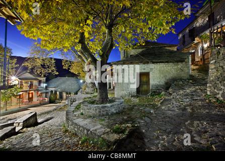 Kalarrytes village, one of the most beautiful Greek mountainous villages, on Tzoumerka mountains, Ioannina, Epirus, - Stock Photo