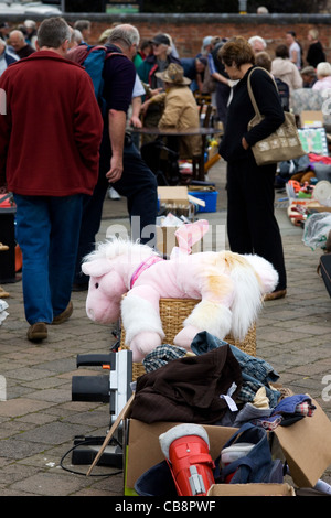 Stuffed Toy in Junk at Car Boot Auction UK - Stock Photo
