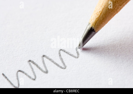 Pencil close up. - Stock Photo