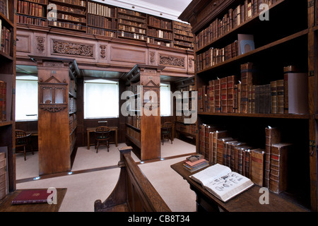 jesus College Library, Oxford, UK - Stock Photo