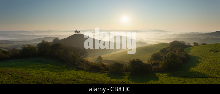 Colmer's Hill and the Marshwood Vale. Dorset. England. UK. - Stock Photo