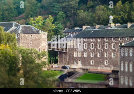 Cotton mills at New Lanark, Scotland. Founded by David Dale in 1786. - Stock Photo