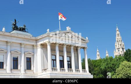 Vienna, Austrian Parliament - Stock Photo