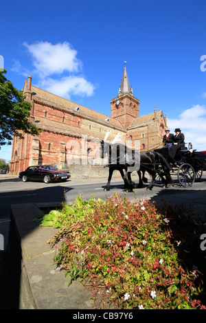 Orkney Islands, Kirkwall, St Magnus Cathedral - Stock Photo