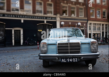 Classic Mercedes car, Amsterdam, Netherlands - Stock Photo