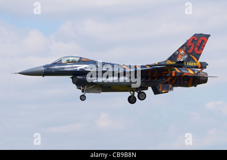 SABCA F-16AM Fighting Falcon variant of the F-16, operated by the Belgian Air Force, on approach for landing at - Stock Photo