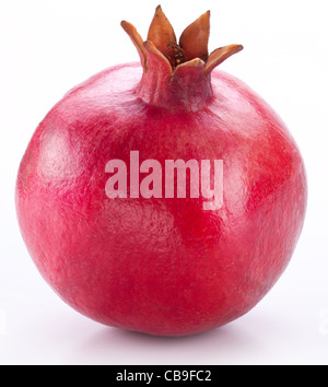 Pomegranate isolated on a white background. - Stock Photo