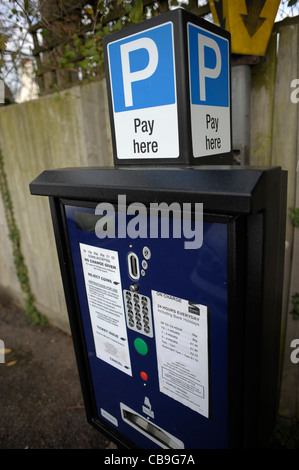 Parking charges in Albion Road, Birchington, Margate, Kent, 28th November 2011 - Stock Photo