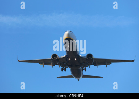 Ryanair Aircraft Boeing 737 on final approach - Stock Photo