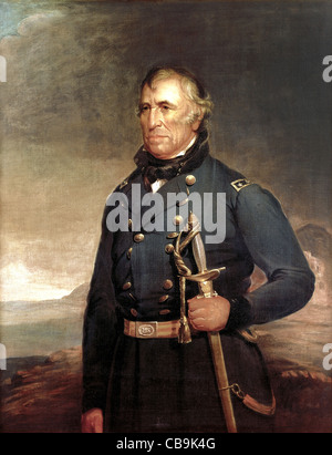 Zachary Taylor (November 24, 1784 – July 9, 1850) was the 12th President of the United States (1849–1850). - Stock Photo