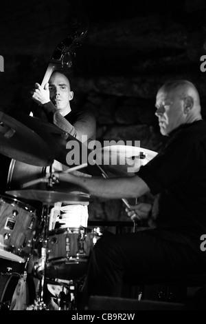 Roberto Gatto and Luca Bulgarelli perform in Monte Compatri (Rome) - Stock Photo