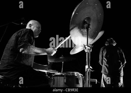 Roberto Gatto and his jazz band perform in Monte Compatri (Rome) - Stock Photo