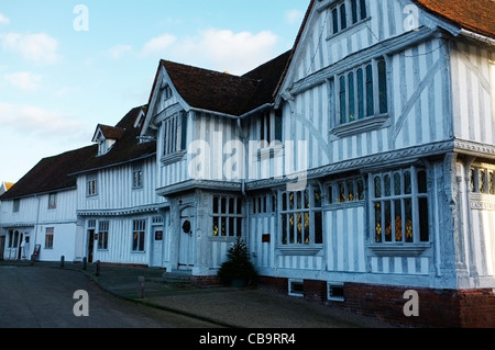 The Guildhall of the wool guild of Corpus Christi, Market Square, Lavenham, Suffolk. - Stock Photo