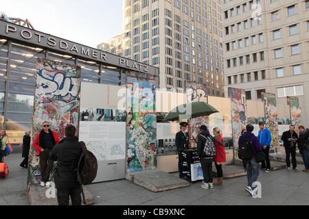 The Wall at Potsdamer Platz in Berlin