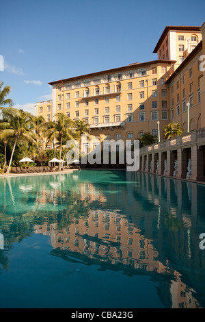 View of the Biltmore Hotel in Miami from the pool - Stock Photo