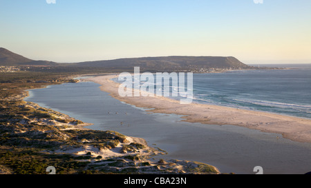 The expanse of Long Beach, with Kommetjie in the background, Cape Peninsula, South Africa. - Stock Photo