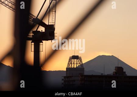 Mt Fuji, seen from Tokyo, Japan, Friday 25th November 2011. - Stock Photo