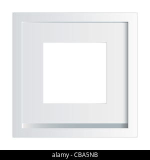 White picture or photo frame made of painted wood - Stock Photo